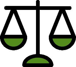Eine grüne Waage