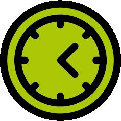 Eine grüne Uhr